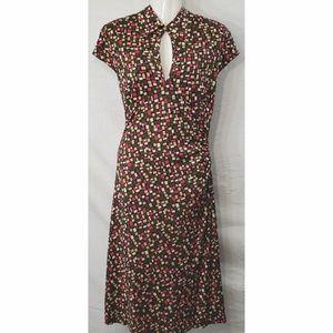 Diane VonFustenberg Silk Ruched Dress
